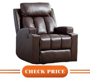 high end leather recliners