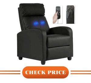 best power leather recliner
