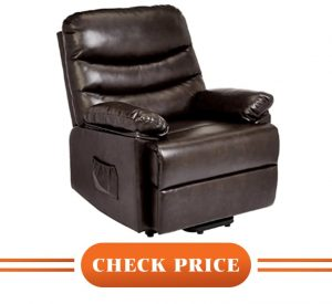 fabric power recliner with heat and massage