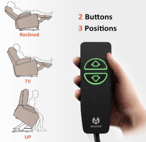 easy to control recliner features