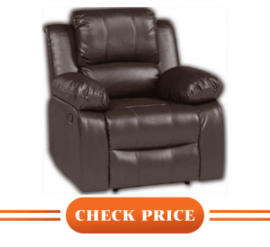 bonzy home leather recliner review